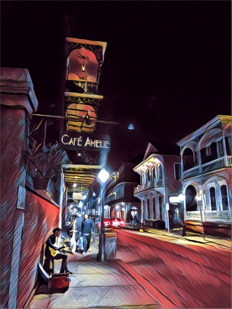 Cafe Amelie (New Orleans), edited with Prisma