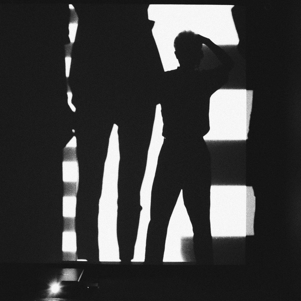 Two people in shadows who seem to be in a disagreement